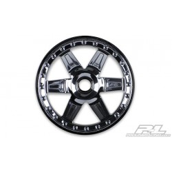 Desperado 2.8 (Traxxas Style Bead) Black Chrome Front Wheel