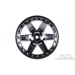 Desperado 2.8 (Traxxas Style Bead) Black Chrome Räder (2)