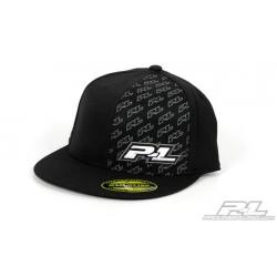 Pro-Line Icon Black Flat Bill FlexFit Hat (S-M)