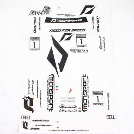 NFD Need for Speed DRIFT TEAM DECALS SET