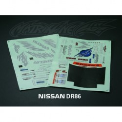 NISSAN 200 SX DECAL SHEETS