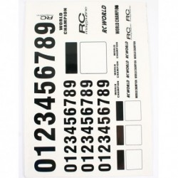 NUMBER DECAL SHEET