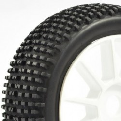 FASTRAX 1:8 PREMOUNTED BUGGYTYRES 'H TREAD/10 SPOKE""