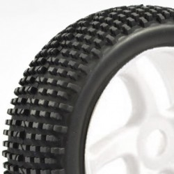 FASTRAX 1:8 PREMOUNTED BUGGYTYRES 'H TREAD/5 SPOKE""