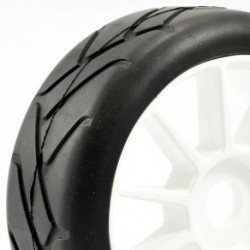 FASTRAX 1:8 PREMOUNTED SLICKTYRES 'GRID IRON/10 SPOKE'