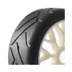 FASTRAX 1:8 PREMOUNTED SLICKTYRES 'GRID IRON/Y-DESIGN'