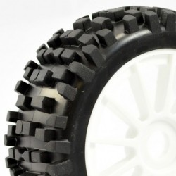 FASTRAX 1:8 PREMOUNTED BUGGYTYRES 'ROCK-BLOCK/12 SPOKE'