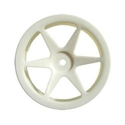 FASTRAX 1:10 LP BUGGY SPOKEWHEEL WHITE FRONT (12MM HEX)