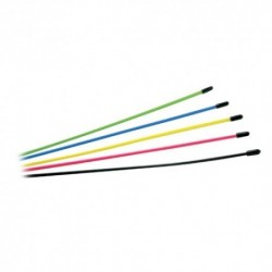 MULTI COLOURED ASSORTEDANTENNA TUBES 6pcs