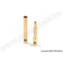G-Force RC - 2.0mm Goldstecker, Stecker + Buchse (4paar)