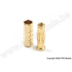 """G-Force RC - 4.0mm Goldstecker """"Car"""", Stecker + Buchse (4paar)"""