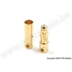 """G-Force RC - 4.0mm Goldstecker """"Kort"""", Stecker + Buchse (4paar)"""