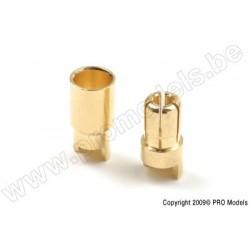 G-Force RC - 6.0mm Goldstecker, Stecker + Buchse (4paar)