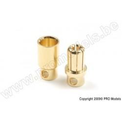 G-Force RC - 8.0mm Goldstecker, Stecker + Buchse (4paar)