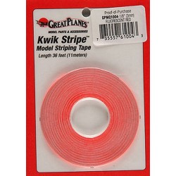 GreatPlanes - Striping Tape Fluorescent Red 1/16""