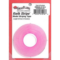 GreatPlanes - Striping Tape Fluorescent Pink 1/8""