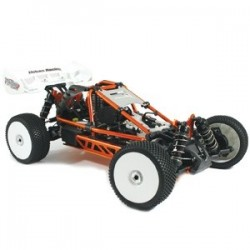 HOBAO HYPER CAGE BUGGY RTR W/MACH*28 SAVOX, 2.4GHZ RADIO - ORANGE