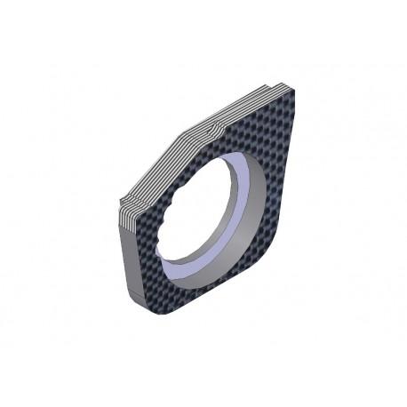 4mm Vordere Karbon Riemenspannungs Hub Halter rechts