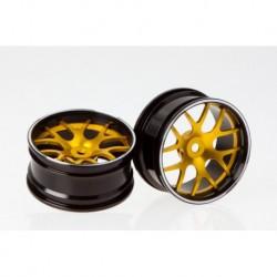 Corvette GT2, CNC Alu-Felgen (gold/schwarz)