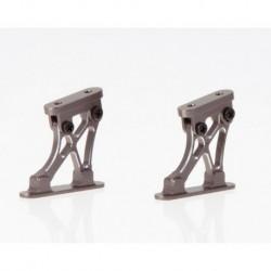 "Aluminium Flügelhalter CNC grau"" Kurze Version ""1/10"""