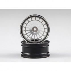 Lancia Delta HF Integrale, CNC Alu-Felgen (silber/schwarz)
