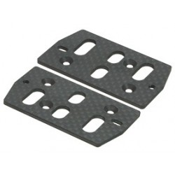 3RACING GRAPHITE SERVO PLATE