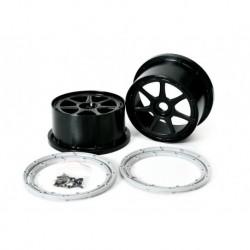Wheel Black Xross MAX 7 Spoke 190MM (2 Stk.)