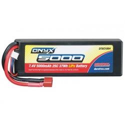 Duratrax - LiPo Onyx 2S 7.4V 5000mAh 25C Hard Case Star Plug