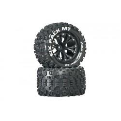 "Duratrax - Sixpack MT 2.8"" Truck 2WD Mntd 1/2"" Offset C2 Blk (2)"