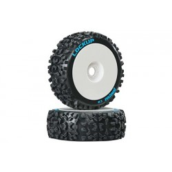 Duratrax - Lockup 1/8 Buggy Tire C2 Mounted White (2)