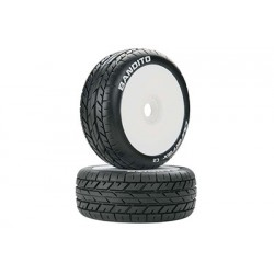 Duratrax - Bandito 1/8 Buggy Tire C2 Mounted White (2)