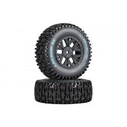 Duratrax - Lockup SC Tire C2 Mounted ASC SC10 4x4 (2)