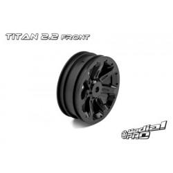 """Medial Pro - Rims """"Titan 2.2"""" Front Black (2 pcs), fits BANDIT/VXL"""