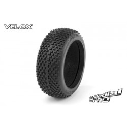 "Medial Pro - Tyres w/ Molded foam inserts ""Velox RC M4 Super Soft"" , fits ""Buggy 1/8"" Rims, SC Raptor 3.3 Front + Rear Rims"""