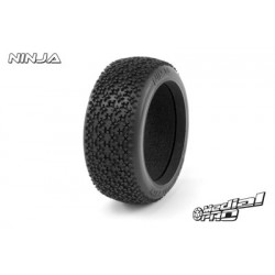 "Medial Pro - Tyres w/ Molded foam inserts ""Ninja RC M2 Medium"" , fits ""Buggy 1/8"" Rims, SC Raptor 3.3 Front + Rear Rims"""