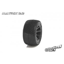 "Medial Pro - Tyre set pre-mounted ""Matrix 2.2"", Black rims fits REVO 1/16 series"