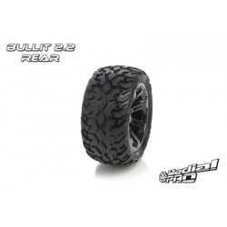 "Medial Pro - Tyre set pre-mounted ""Bullit 2.2"" Rear ,Black Rims fits BANDIT/VXL"