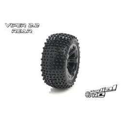"Medial Pro - Tyre set pre-mounted ""Viper 2.2"" Rear , Black rims fits BANDIT/VXL"