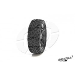 "Medial Pro - Tyre set pre-mounted ""Bullit 2.2"" Front , White rims fits BANDIT/VXL"