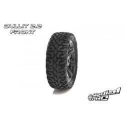 "Medial Pro - Tyre set pre-mounted ""Bullit 2.2"" Front , Black rims fits BANDIT/VXL"