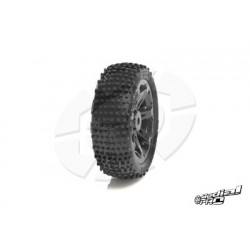 "Medial Pro - Tyre set pre-mounted ""Viper 2.2"" Front , White rims fits BANDIT/VXL"