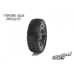 "Medial Pro - Tyre set pre-mounted ""Viper 2.2"" Front , Black rims fits BANDIT/VXL"