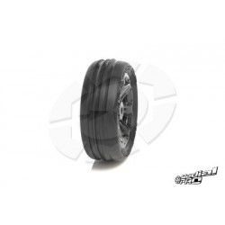 "Medial Pro - Tyre set pre-mounted ""Tracer 2.2"" Front , White rims fits BANDIT/VXL"