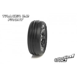 "Medial Pro - Tyre set pre-mounted ""Tracer 2.2"" Front , Black rims fits BANDIT/VXL"