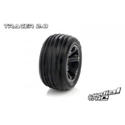 "Medial Pro - Tyre set pre-mounted ""Tracer 2.8"", Black"