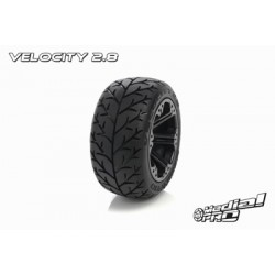 "Medial Pro - Tyre set pre-mounted ""Velocity 2.8"", Black"