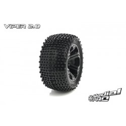 "Medial Pro - Tyre set pre-mounted ""Viper 2.8"", Black"
