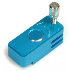 Löthilfe für Akku-Endverbinder und Hülse Blau
