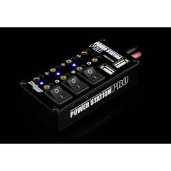 Verteilerbox Pro mit Buchsen, Schalter und 2xUSB, Schwarz