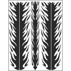 Airbrush Maske Flame Stripes